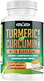 Turmeric Curcumin with Bioperine Supplement - Natural Anti-Inflammatory & Antioxidant Aid Non GMO Supplement for Men and Women