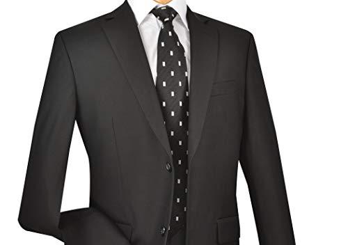 Mens Business Suit Classic Regular Fit Pleated Pants Solid Color