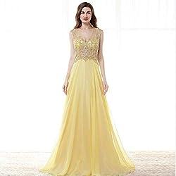 Long V Neck Open Back Dress
