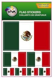Mexico Country Flag Set of 7 Different Size Collection Decal Stickers ... New in Package