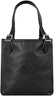 product image for Duluth Pack Leather Medium Market Tote (14 x 13 x 6-Inch, Black)