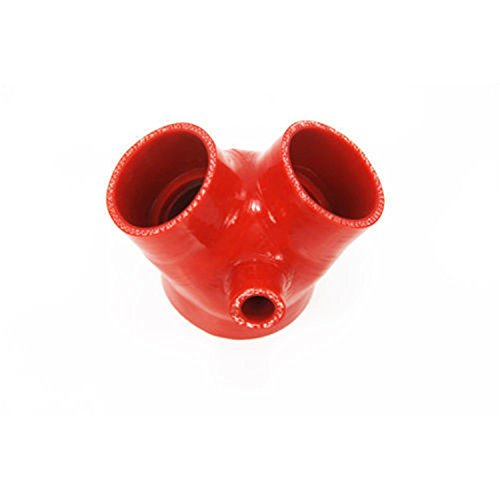ALLOYWORKS Red Silicone Hose Pipe for Audi A6 S4 2.7T Throttle Body Boot - Throttle Body Heater Pipe