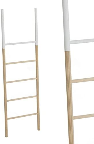 Home Line Escalera Decorativa Madera Blanca 150 cm 22211993DC: Amazon.es: Hogar
