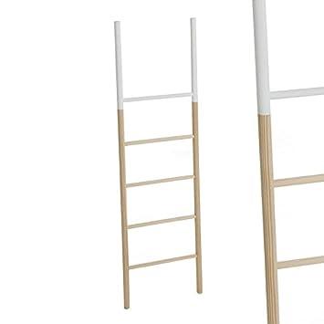 Home Line Escalera Decorativa Madera Blanca 150 cm ...