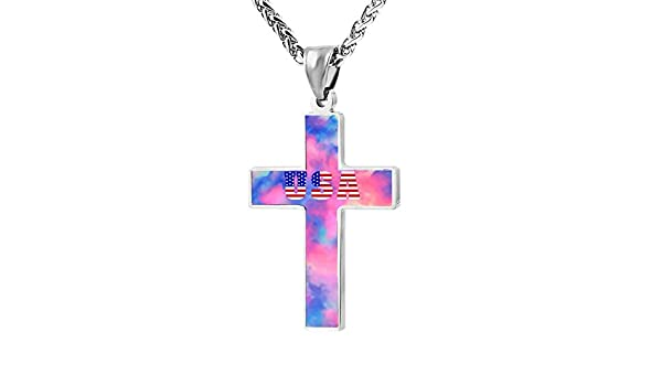 Quensk 4964009/_0 Cross Necklace Christ Necklace Pendant Cross Prayer Fashion Accessories for Men Women