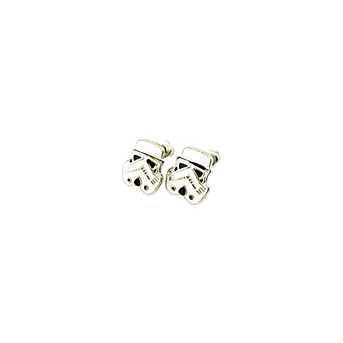 [Star Wars Stormtrooper Silver Tone Cartoon Comic Logo Post Earrings w/Gift Box by Superheroes] (Storm X Men Costume Comic)