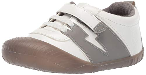 Ro + Me by Robeez Boys' Alex Athletic Sneaker Crib Shoe, Grey, 6-12 - Athletic Robeez Shoes