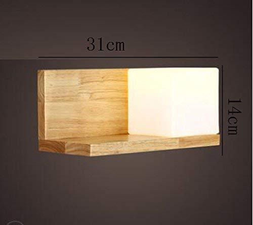 Modernen skandinavischen, minimalistischen Lounge Balkon japanischen japanischen japanischen Markt als der Empfang der Kunst der Holz Schlafzimmer kreative Bett Lampe Wand Energieeffizienzklasse (A) ( Farbe   - , Größe   - ) 706b7a