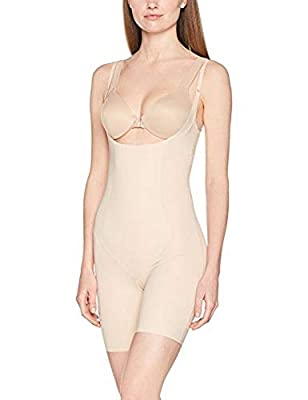 SPANX Women's Thinstincts Open-Bust Mid-Thigh Bodysuit from Spanx