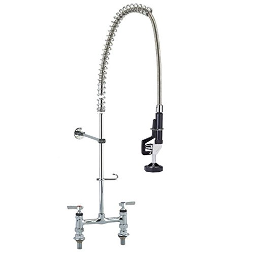 Low Lead - Elevated Deck-Mount Pre-Rinse Unit with Wall Bracket | 8