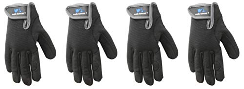 Youth Synthetic Leather - Youth Synthetic Leather Gloves, High Dexterity, Spandex Back, Machine Washable (Wells Lamont 7700Y) (4 Pair)