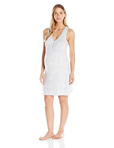 Lamaze Maternity Women's Sleep Gown, Light Grey, X-Large (Lamaze Lights)