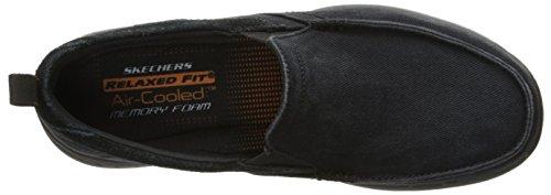 Skechers USA Men's Harper Delen Slip-On Loafer,Black Canvas,10 M US by Skechers (Image #8)