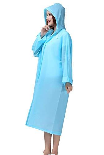 Eva Dame Casual Raincoat Battercake Capuche Et Light Femmes Rain Transparent Portable Imperméable Poncho Blau wUqv0wZ