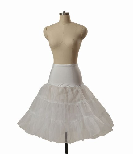 MISSYDRESS 3 Tier of Tulle and Organza Girl Knee Length Slip Petticoat Crinoline