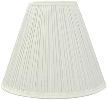 Aspen Creative White, 59176 Transitional Pleated Empire Shape UNO Construction Lamp Shade Wide 5 x 11-1 2 x 9-1 2 , 5 x x
