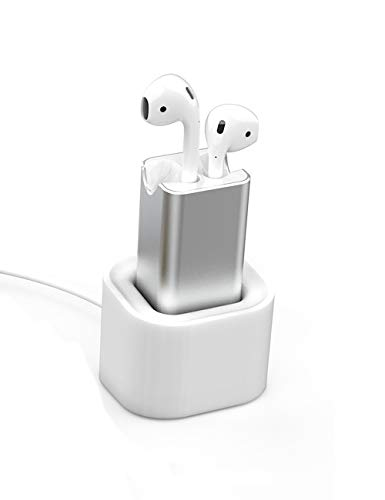 BLUERIN Airpods Charger Desktop Charging Adapter with Stand Holder and in Car Charging Wireless Headphones Earbuds Accessories Airpod Charger case Replacement