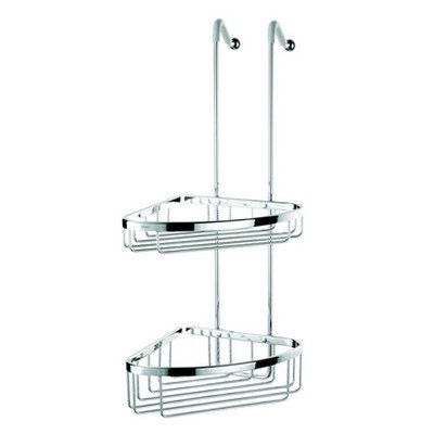 Geesa Geesa 255-638845266895 Double Basket Collection Shower Basket, Chrome Geesa Basket