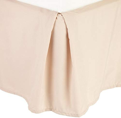 CELINE LINEN 1500 Thread Count Wrinkle Resistant Egyptian Quality Solid Bed Skirt - Pleated Tailored 14