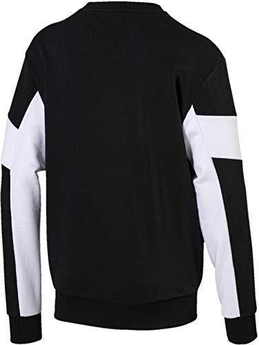 Rebel Sweatshirt Crew Puma Homme Tr Cotton Black dxtqw