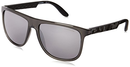 Carrera CA5003S Rectangular Sunglasses, Gray Camel Gray & Black Mirror, 58 - Lady Gaga Sunglasses Round