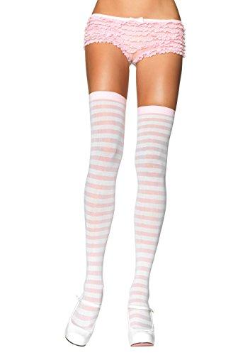 Leg Avenue Women's Nylon Striped Stockings - coolthings.us