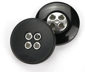 RTYW ヴィンテージ樹脂丸ヒラタブラックのボタン服手作りDIYコート衣類縫製工芸品装飾の2/4の穴 (Color : F, Size : 25MM 8PCS)