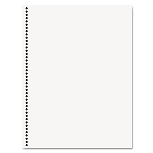 PrintWorks Professional Prepunched Paper, 8.5 x 11, 20 lb, 44-Oval Hole Spiral Coil (4:1 Pitch) Binding Paper, 500 Sheets, White (44 Hole Coil Punched Paper)