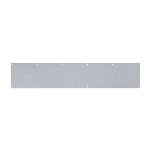 Tell Manufacturing DT100055 Kick Plate, Satin Stainless Steel, 6