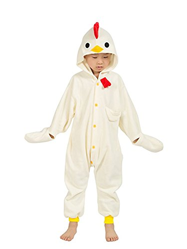 Eamaott Childrens Chicken Costumes Animal Onesies Kids Homewear Pajamas 105 for $<!--$23.99-->