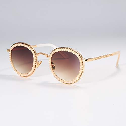 - GFF Pearl Round Sunglasses Men Women Fashion UV400 Vintage Glasses 51003