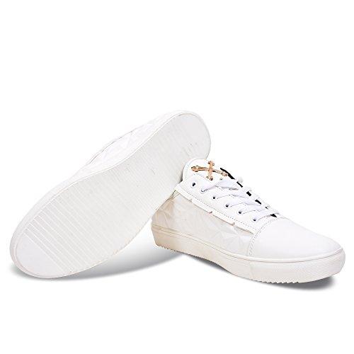 Tiktauli De. Corpo. Sneaker Basse Basse Bianche In Pu