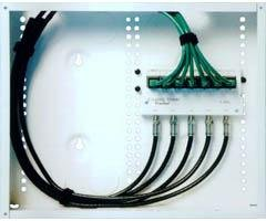 CHANNEL VISION C-0010 12' Wiring Panel with Telecom and Rf Service Modules