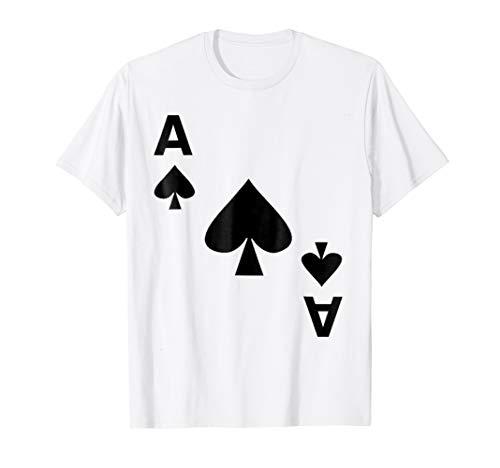 Ace of Spades T-Shirt Halloween Deck Card Costume -