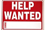 BAZIC - Help Wanted Sign (12 inch X 16 inch)