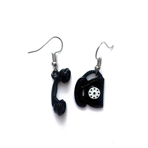 YOUSIKE Vintage, Black, Simulated Telephone, Drop Earrings For Women Fashion Jewelry
