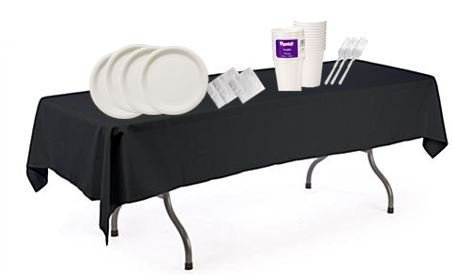 Customized Party Supplies -Serve Up To 60 Guests! Round P...