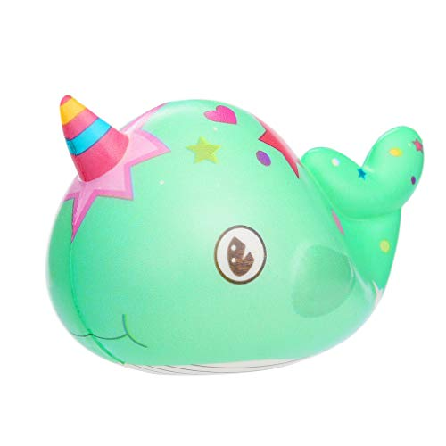 Squeeze Squishies Toy Kawaii Narwhal Slow Rising Cream Scented Stress Relief Toys Gifts (Mint Green): Amazon.com: Grocery & Gourmet Food