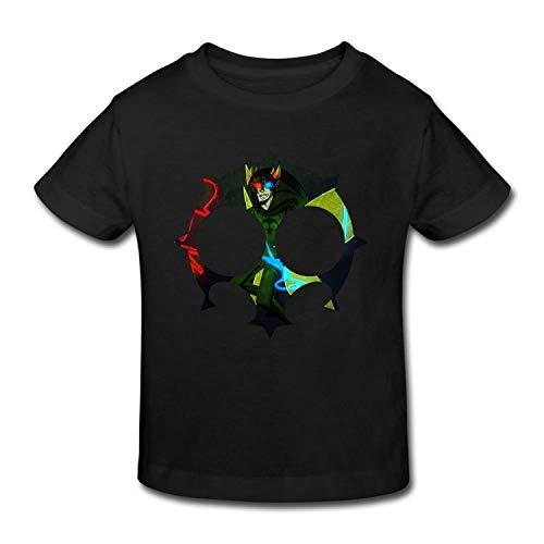 Tee Heir (Againl Homestuck Heir of Doom Kid's CottonT Shirts for Girls & Boys Tees Black,ЧТ,Black)