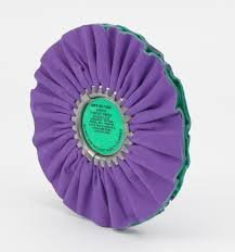 Zephyr 10'' Buffing Wheel Airway Purple/Green Smooth Cut by Zephyr (Image #1)