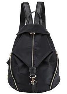 Anti Theft Rucksack,Women Vintage Tassel Backpack Handbags,Faux Leather Casual Daypack,Small School Bag for Teenage,Retro Backpack,Pu Leather Rucksack,Unisex Backpack Black