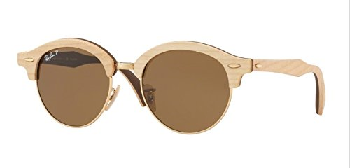 Ray-Ban-Wood-Unisex-Polarized-Round-Sunglasses-Gold-511-mm