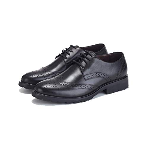 Pelle Round Antiscivolo Scarpe Head Stile Stringate Casual Britannico Black da Business Uomo Piattaforme in Scarpe Trend qXPFwOY