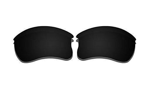 Black Polarized Replacement Lenses for Oakley Flak Jacket XLJ - Flak Jacket Xlj Only Frame