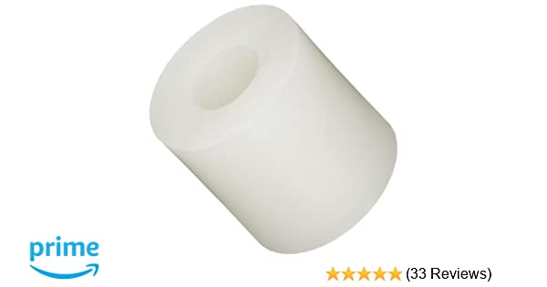 Off-White Nylon 0.047 Length Pack of 100 #6 Screw Size Round Spacer