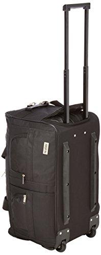 McAllister TravelSystem Reisetasche mit Rolen Trolley Sporttasche Reisetasche Schwarz 60L 80L 100L oder 140L