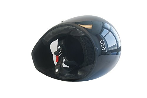 CRG Sports ATV Motocross Motorcycle Scooter Full-Face Fiberglass Helmet DOT Certified ATV-1 Glossy Black Size Large by CRG Sports (Image #3)