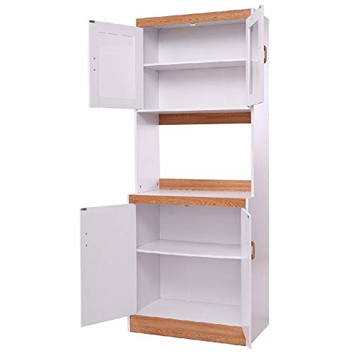Beverage Cart Cabinet Storage Shelves Kitchen Kitchenware Pantry Cupboard Wheel - Toaster Double Oven Tier