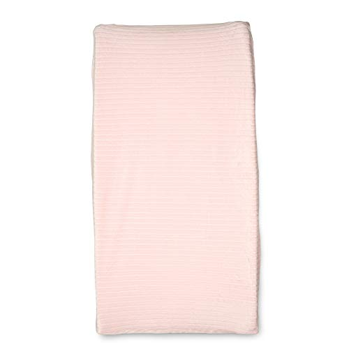 Boppy Changing Pad Cover, Pink Ribbed Minky Fabric