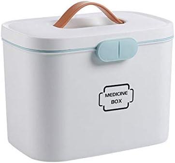 Botiquín, Medicina Almacenamiento Kit, Caja de Plástico Botiquín, Caja de Medicina Casera Caja Médica, Botiquín de Botiquín de Primeros Auxilios, Depósito de Medicamentos,White: Amazon.es: Salud y cuidado personal